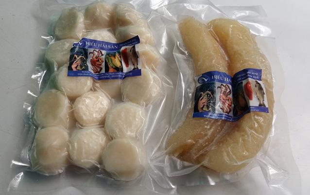 hải sâm tươi cao cấp cùng với cồi sò điệp nhập khẩu