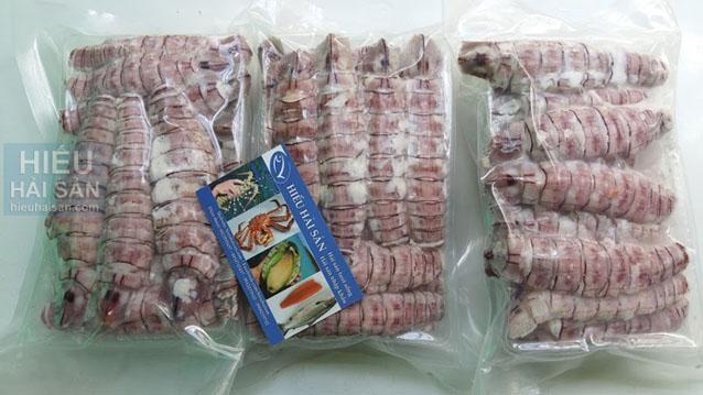 thịt tôm tích hấp chín