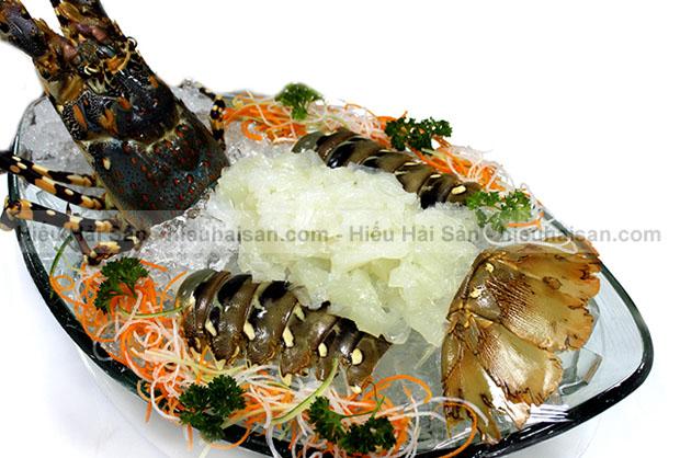 sashimi tôm hùm ăn sống