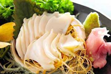 bào ngư sashimi